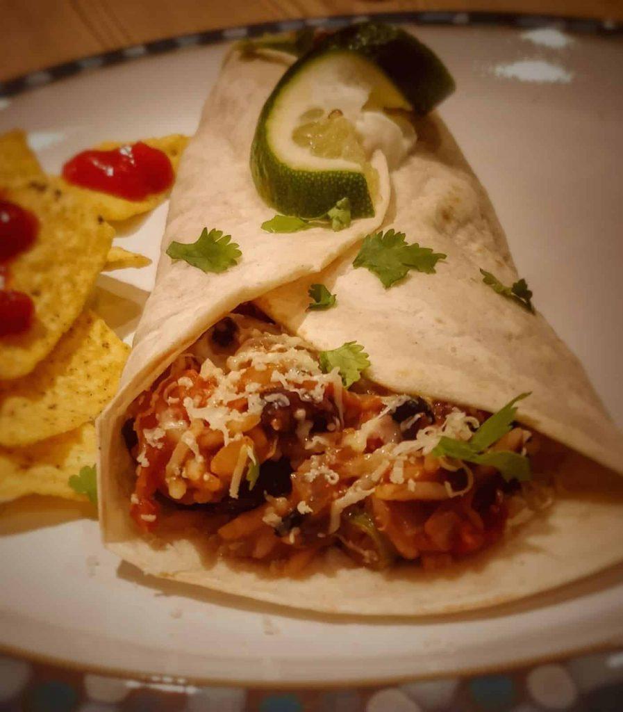 Spicy Veggie Burritos Recipe