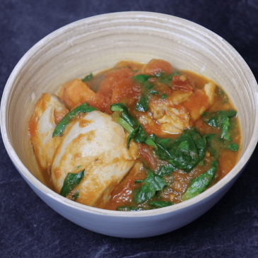 chicken with spinach Stew