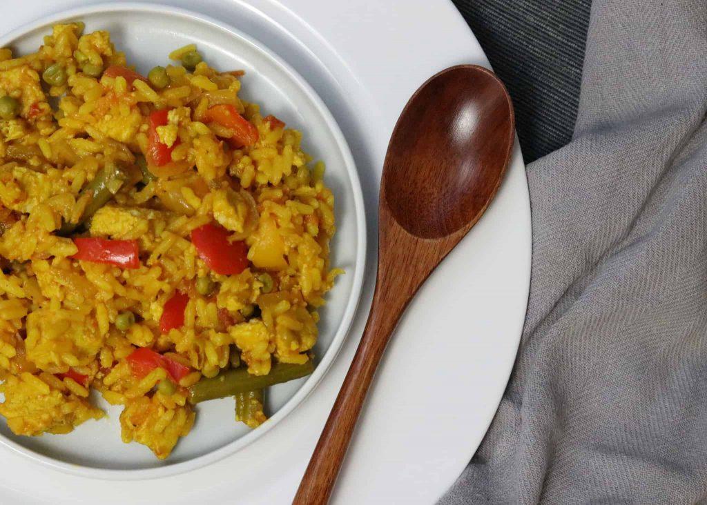 jerk quorn paella recipe