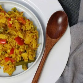 jerk quorn paella recipe