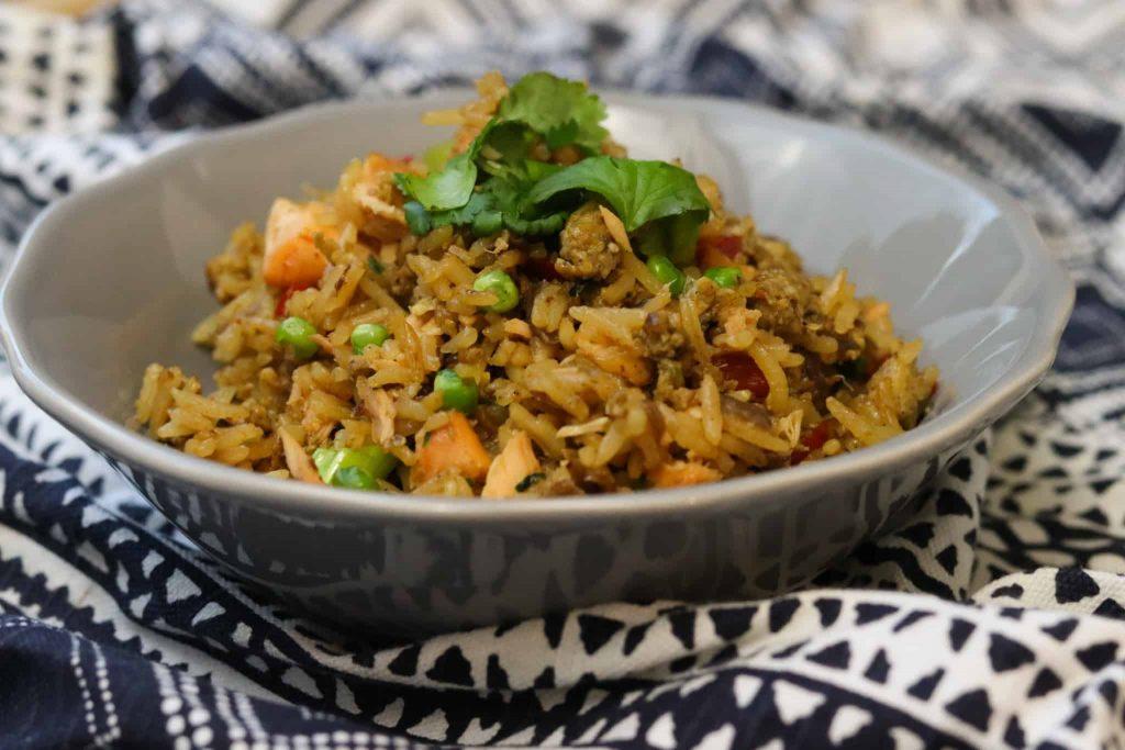 photo of Salmon Fried Rice Recipe