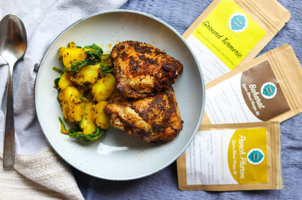 Baharat Spiced Chicken & Potatoes