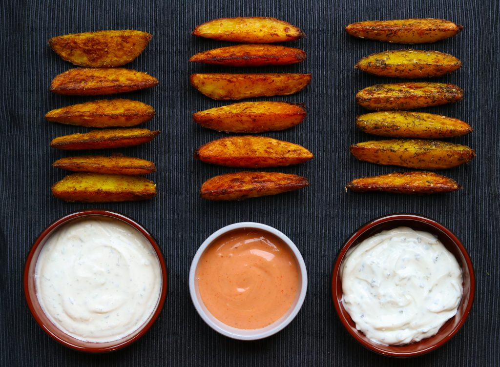 Spicy Wedges and Dips