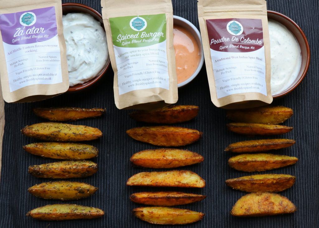 Spicy Wedges and Dip Recipe