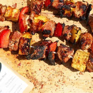 Pork & Pineapple Kebabs with Togarashi