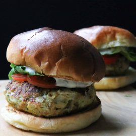 Image of spicy fish burger